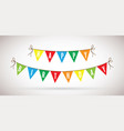 happy birthday colourful bunting background vector image vector image