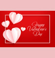 happy valentines day origami hearts background vector image vector image