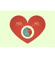 heart decision vector image