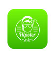 hipster style icon green vector image