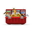 instrument toolbox with tools kit vector image vector image
