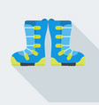 isolated snowboard boots vector image