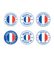 made in france labels set french product emblem vector image vector image