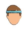 Man with sport headband vector image