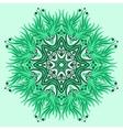 Mandala ornament in green colors vector image