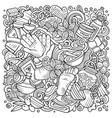 massage hand drawn doodles vector image
