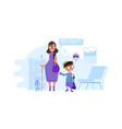 mommother writes children to school principal vector image vector image
