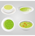 pea soup collection vector image vector image