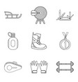 penknife icons set outline style vector image vector image