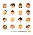 people avatars collection set hipster avatar vector image