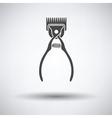 Pet cutting machine icon vector image