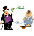 rich and poor vector image vector image