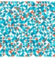 Seamless geometric vintage pattern With vector image vector image