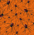 seamless Halloween pattern with poisonous spiders vector image vector image