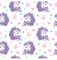 seamless pattern with heads unicorns and vector image