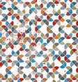 Seamless retro pattern tiles background with messy vector image vector image