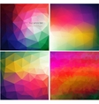 set four colorful abstract geometric background vector image vector image