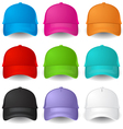 Set of Baseball caps vector image vector image