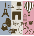 Set of design elements of the old France vector image vector image