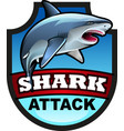 shark attack symbol vector image