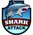 shark attack symbol vector image vector image