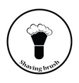 Shaving brush icon vector image vector image