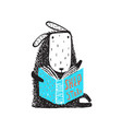 sheep reading a book vector image vector image