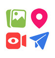 simple social media icon set vector image vector image