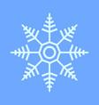 snowflake star symbol vector image vector image