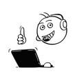 stick man cartoon male customer support vector image