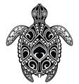 tattoo turtle vector image