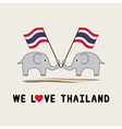 Two elephants hold Thai flag1