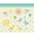 Vintage doodle baby toys for greeting card vector image vector image