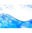 Wavy Frame With Snowflakes vector image vector image