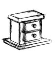 wooden box drawer vector image vector image