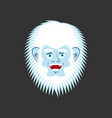 yeti cheerful emoji bigfoot happy face abominable vector image vector image