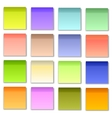 Colorful Papers for Notes vector image