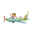 A view of airplane vector image vector image