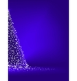 Abstract green christmas tree on blue EPS 10 vector image vector image