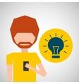 avatar smartphone idea social media vector image vector image