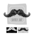 Barber Shop logo Emblem with a mustache se vector image