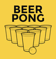 Beer Pong Drinking Game vector image vector image
