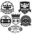 Bodybuilding And Fitness Badges vector image vector image