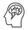 brainstorm line icon creative and idea brain and vector image vector image