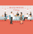 business catering concept vector image vector image