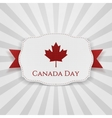 Canada Day Badge with Ribbon vector image vector image