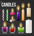 candles set different types of paraffin vector image