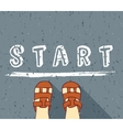 Child begin way standing on the start vector image vector image