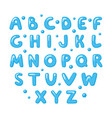 childish cute english alphabet bold and shiny vector image