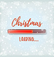 christmas loading abstract design vector image vector image